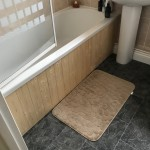 Bath panel constructed at a constructed home